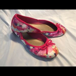 kelly&katie Pink Floral Flats